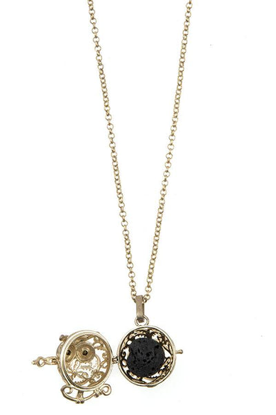 Owl cut out pendant necklace