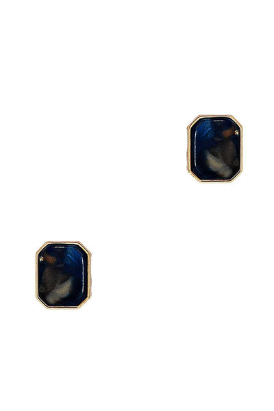 Fashion Square Marble Earring