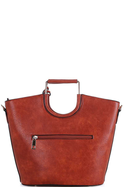 Long Strapped Tasselled Carryall With Long Strap