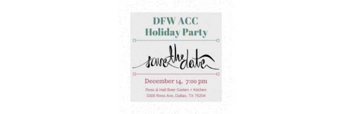 2019 ACC Holiday Party - December 14, 2019 7-10pm