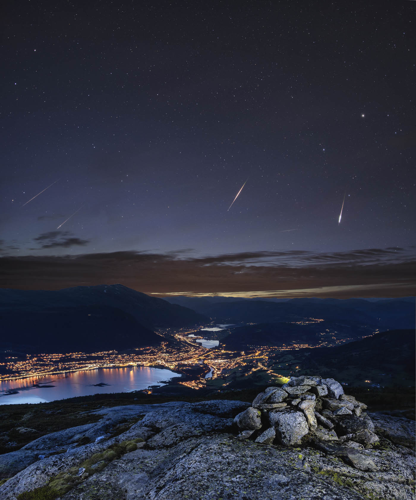 Persied meteor shower photography