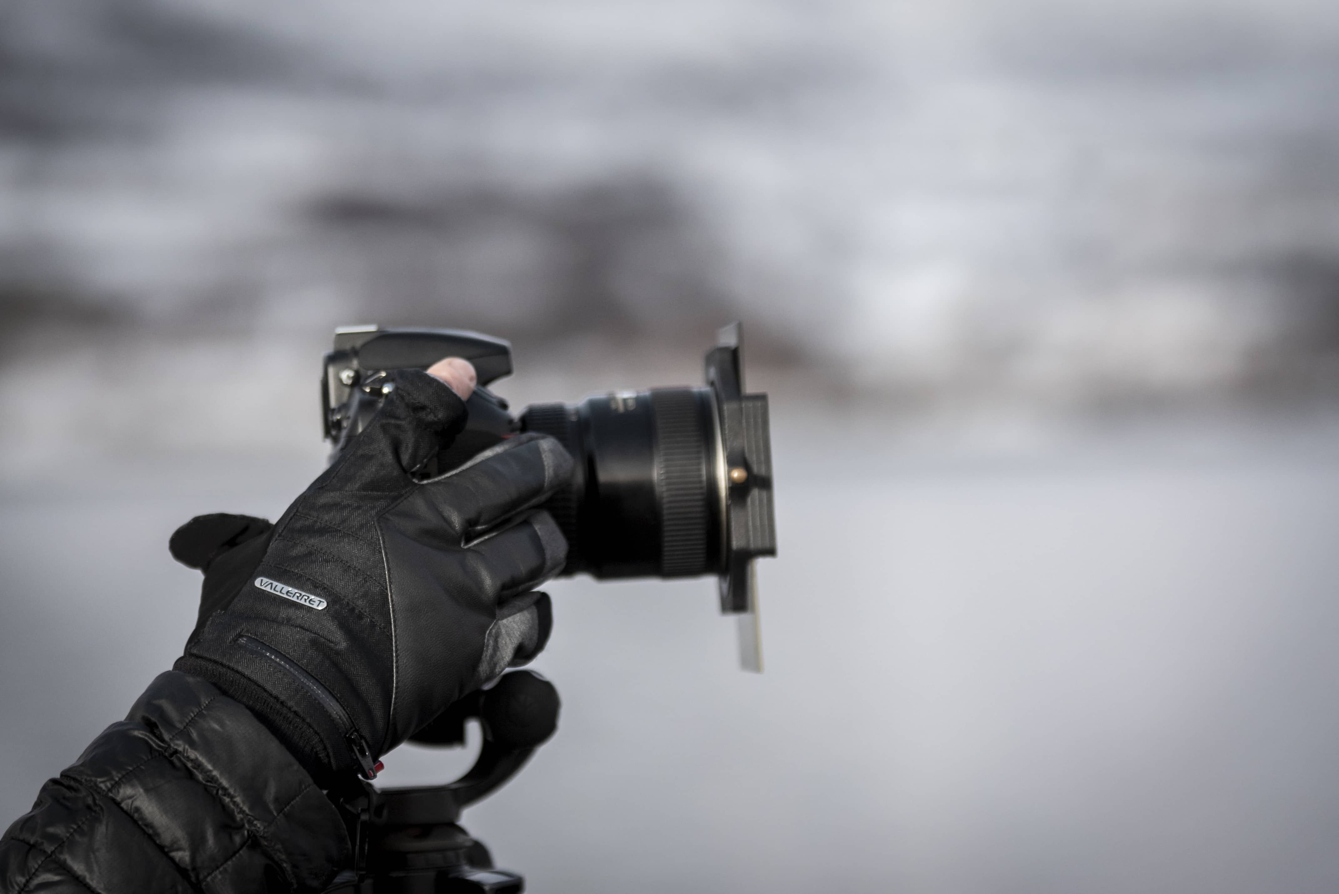 Camera with filter for winter photography