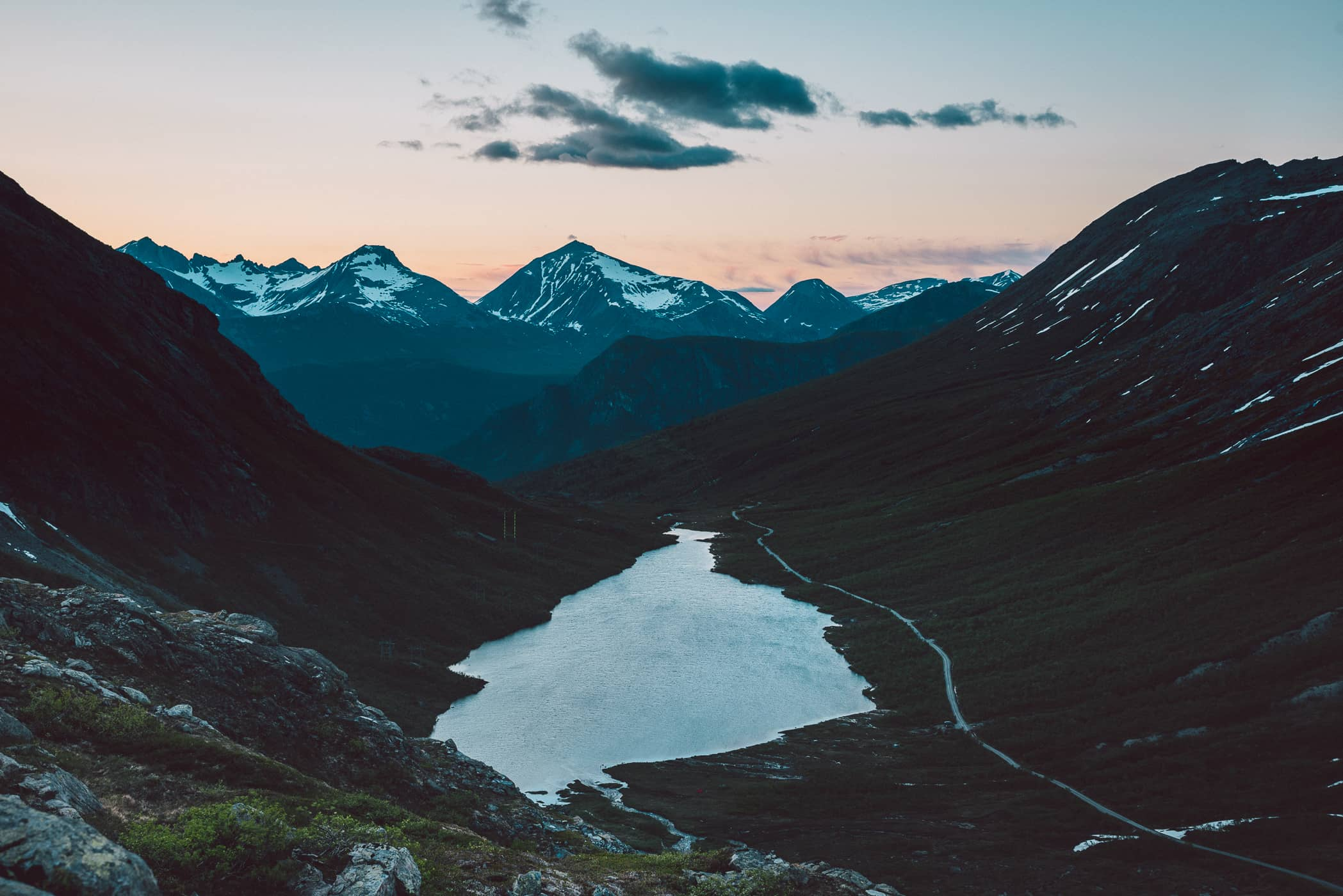 norway fjords at dusk