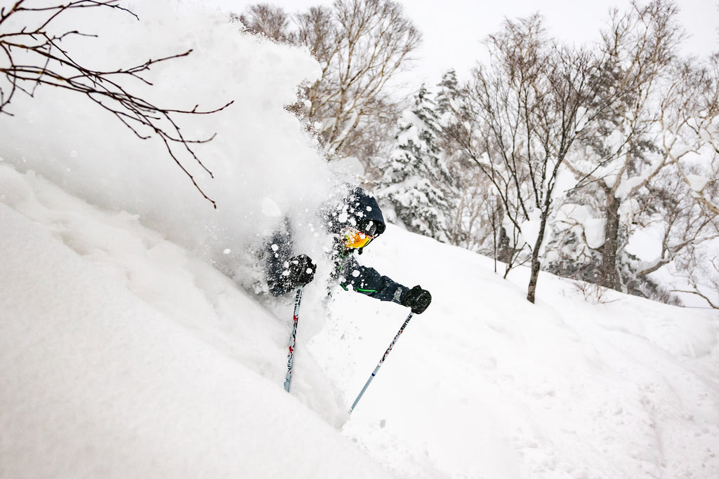 Winter skiing in Japan