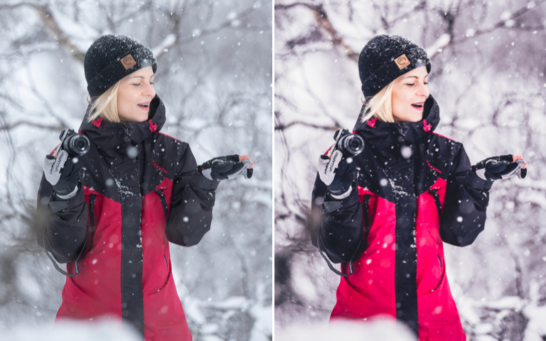 winter portrait lightroom preset