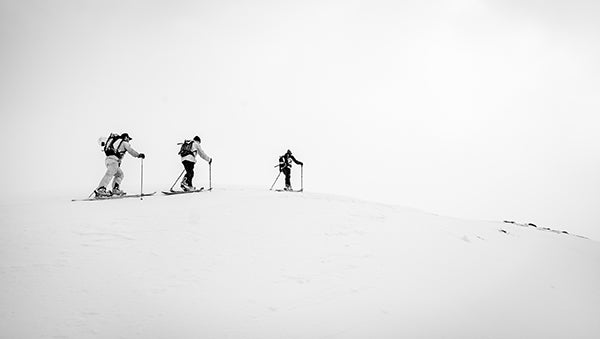 Vallerret. black and white ski photography