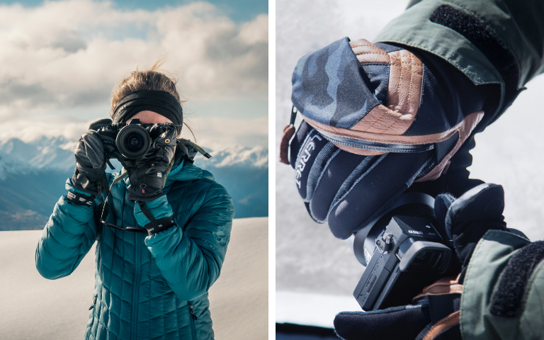 gloves and mittens for winter photography