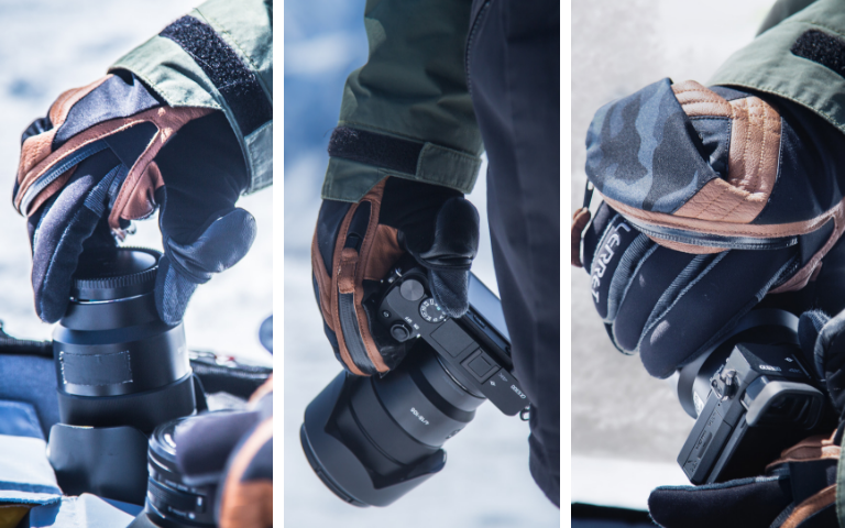 glove and mitten for winter photography
