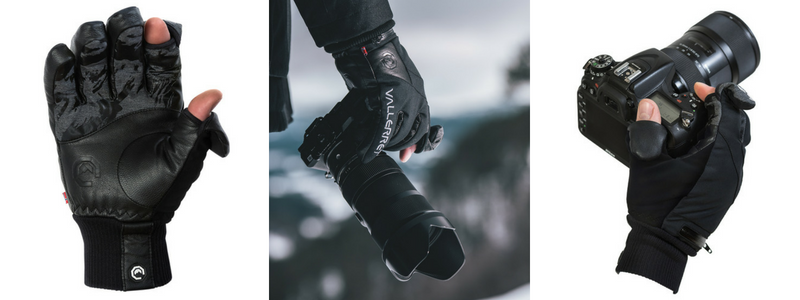 Warm gloves for winter photography