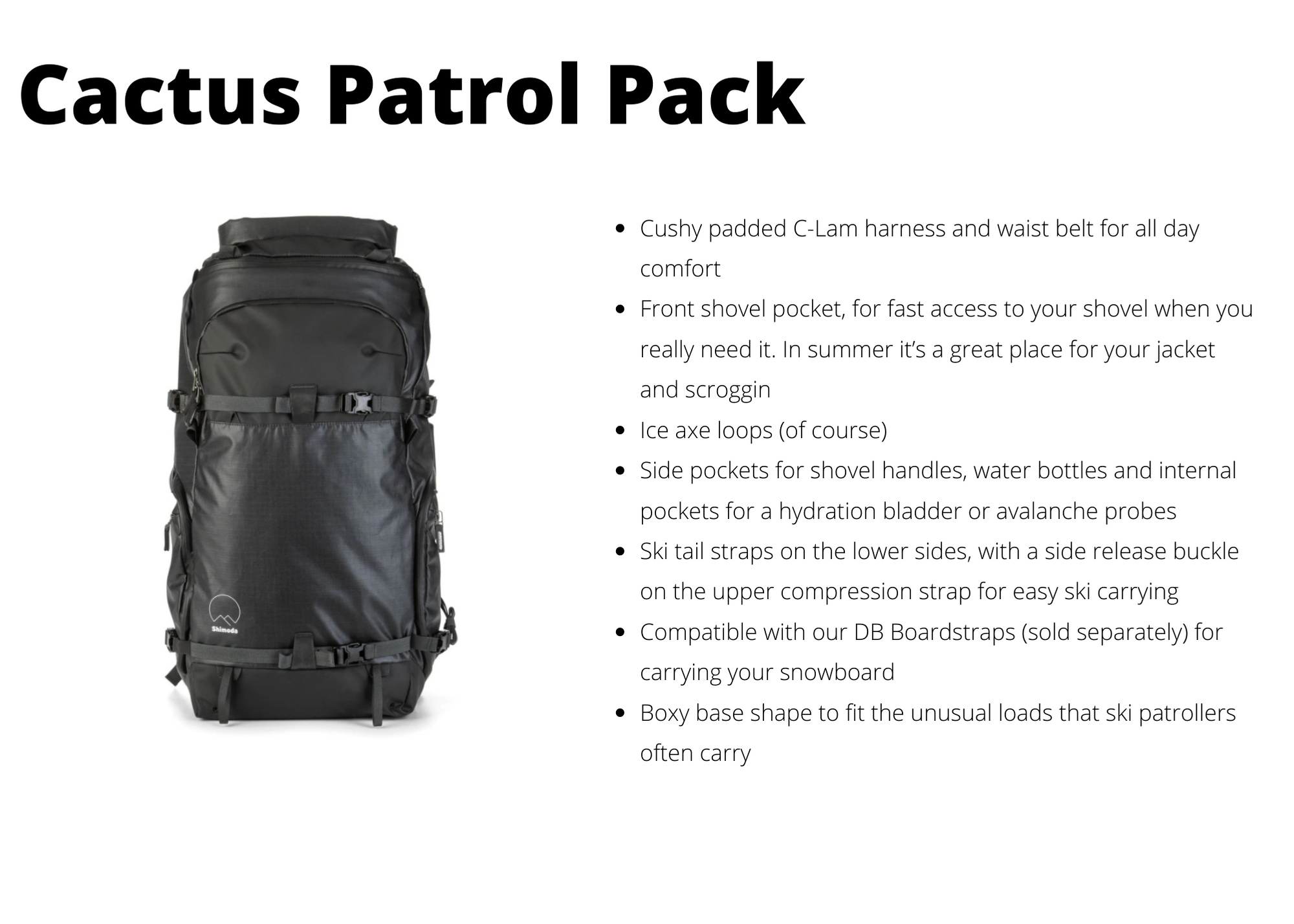 Cactus Patrol Pack for winter photography