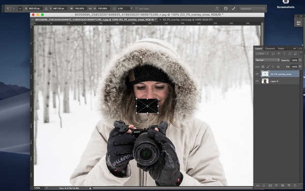Adding an overlay to Photoshop