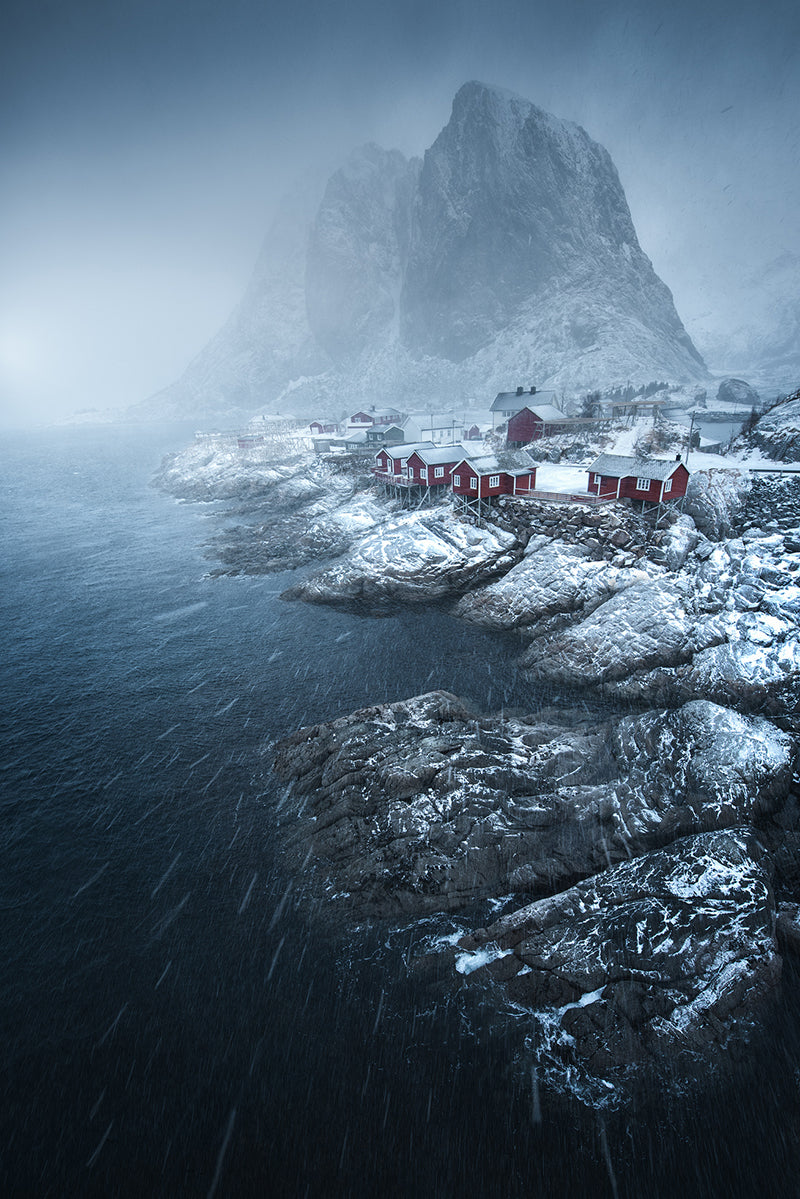 Lofoten Norway in a winter storm
