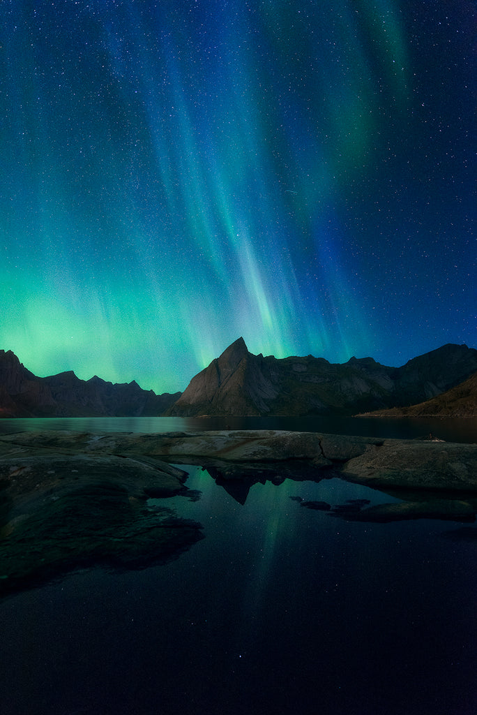 Hamnoy northern lights lofoten