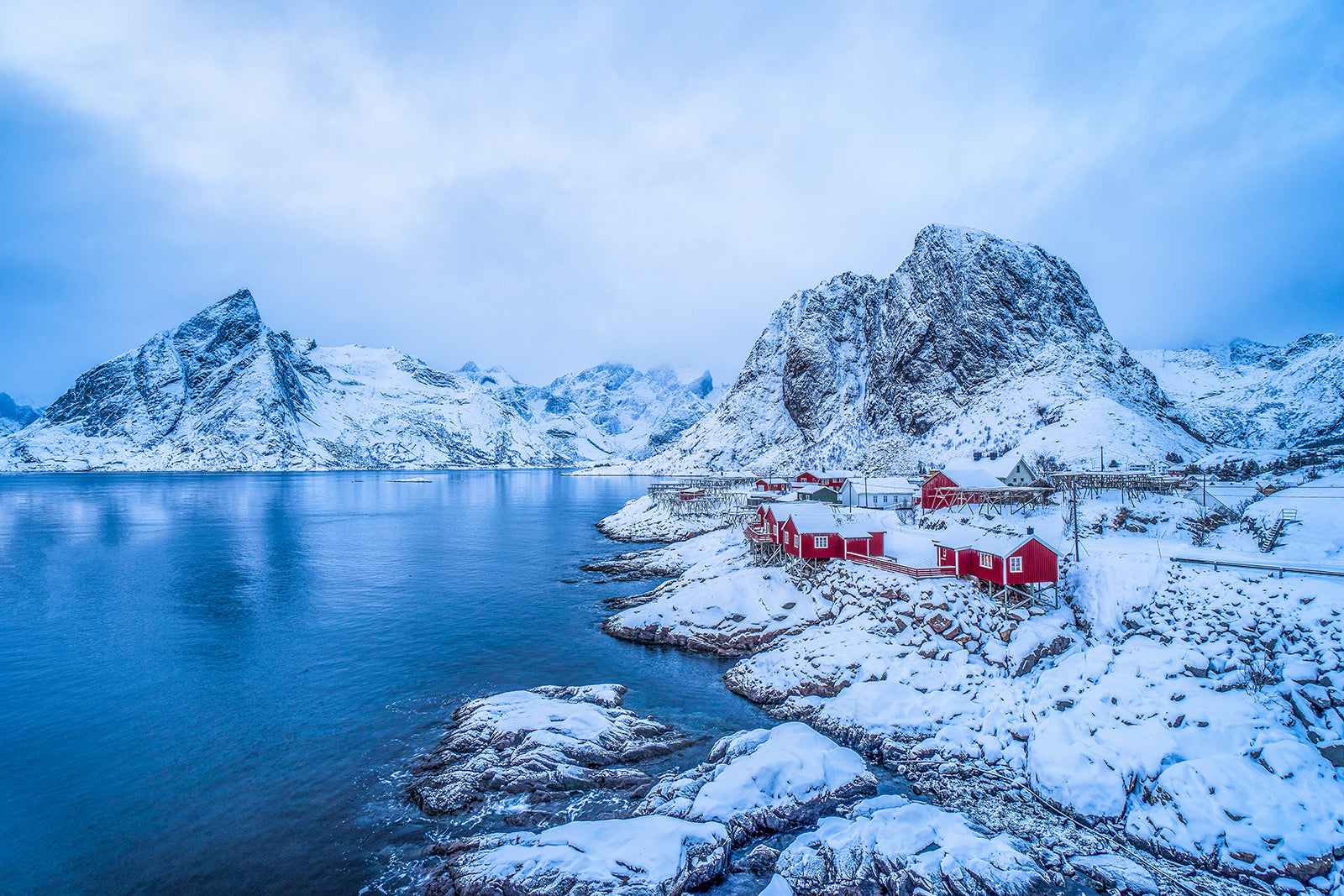 Hamnoy Lofoten in winter