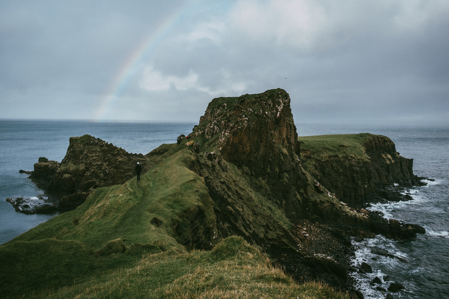 Rainbow of the sea at Isle of Sky, Scotland