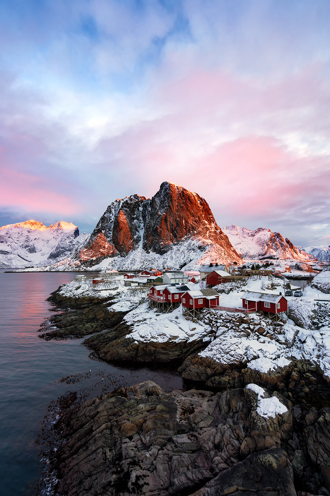 Reine lofoten in Winter