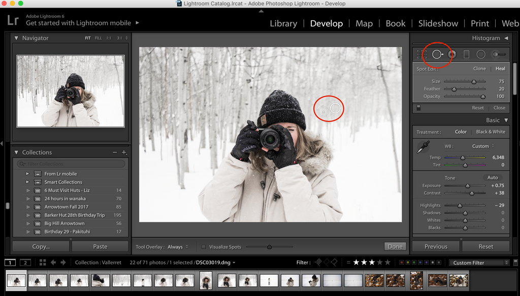 Clone button lightroom