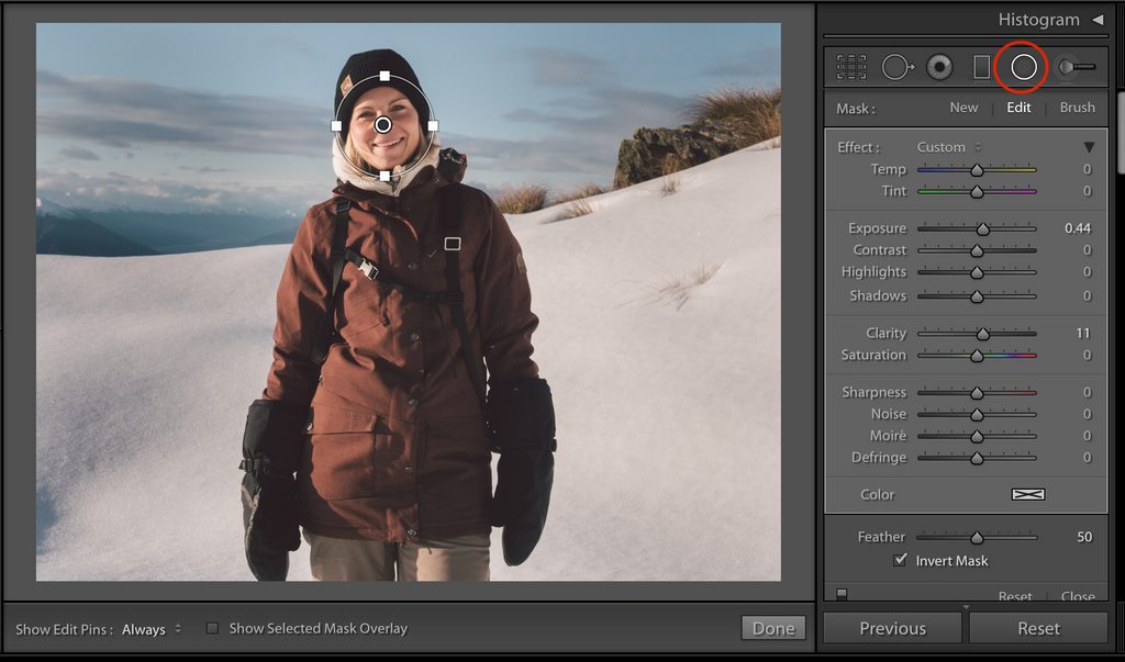 Radial filters lightroom