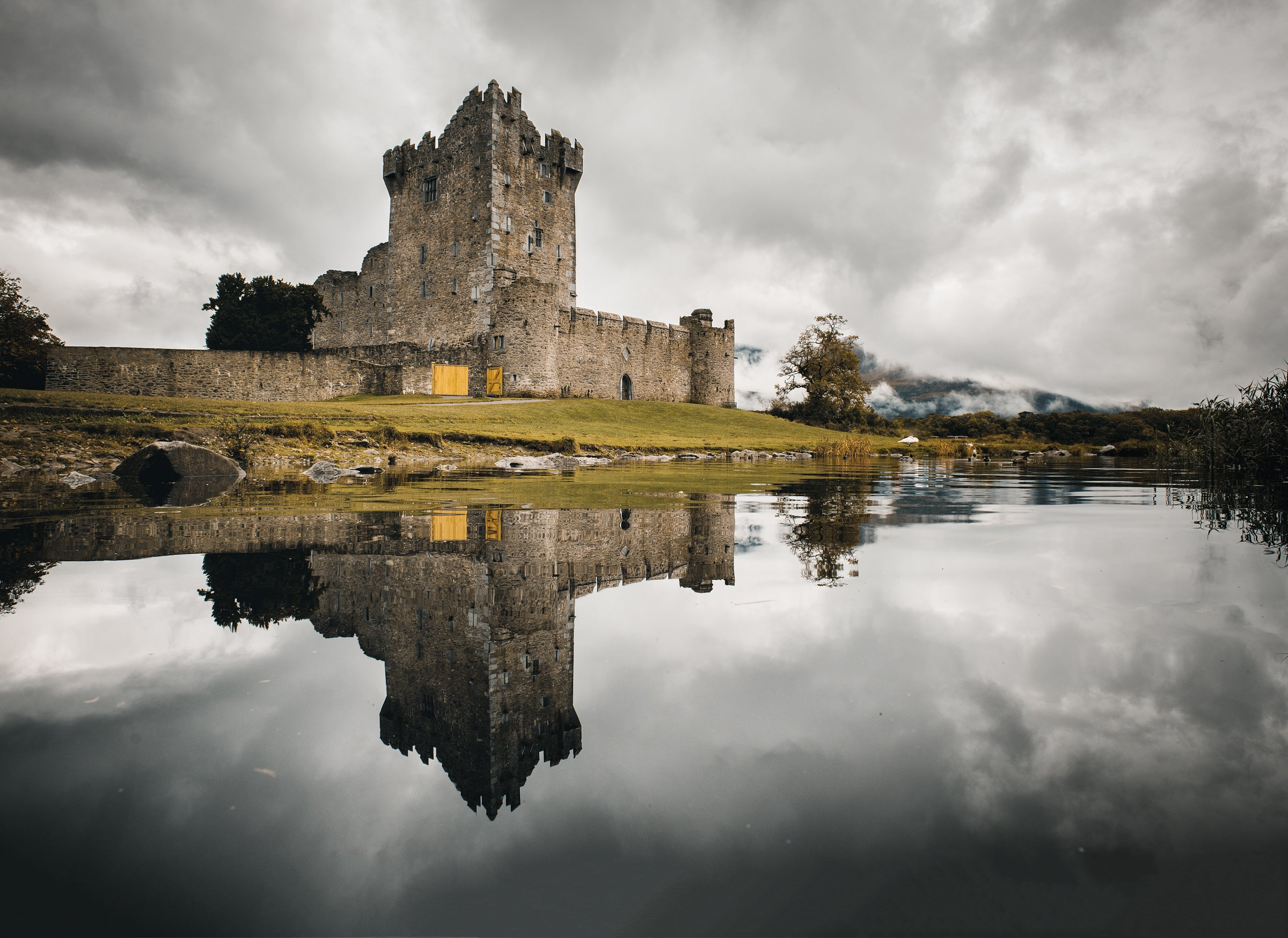 Castle in a reflections