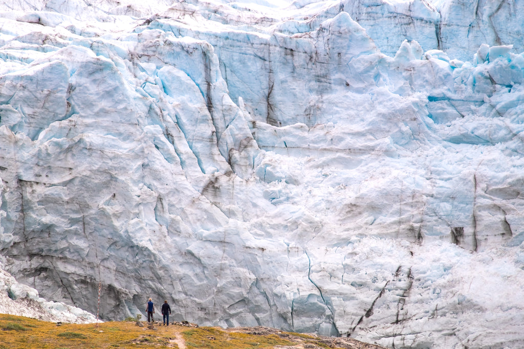 The massive Russell Glacier looming large over visitors