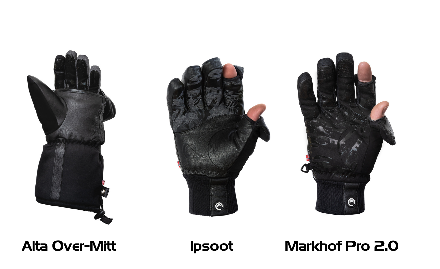 Photography gloves for cold weather