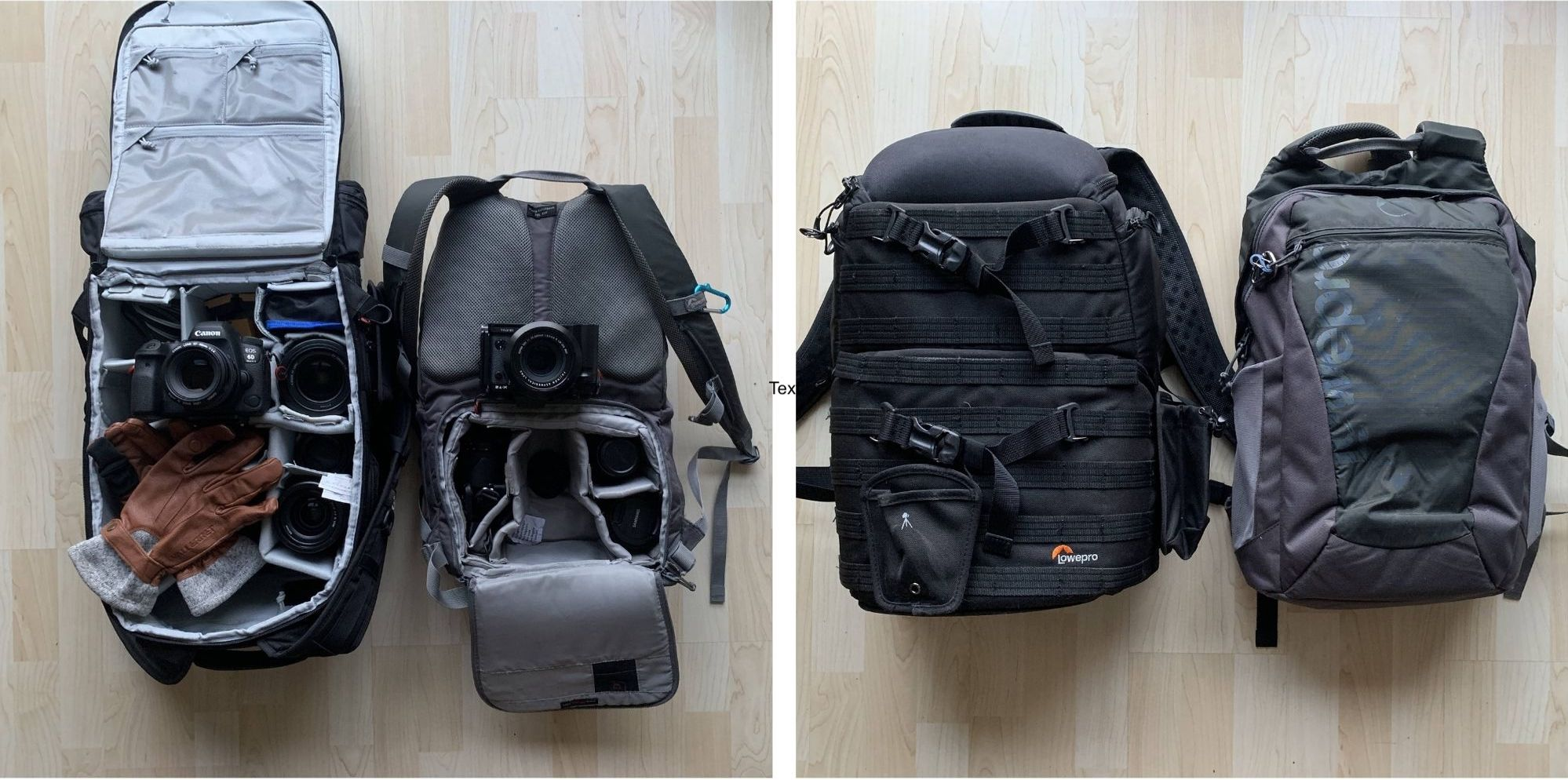 LowePro ProTactic BP 450 AW and the Hatchback BP 250 AW