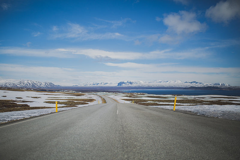 iceland roads in winter