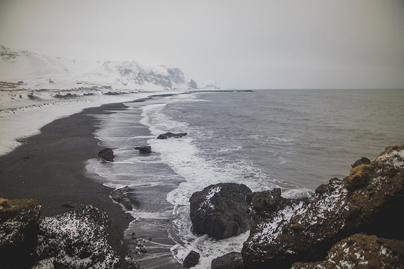 winter beach in iceland