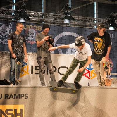 Vallerret Shooter capturing the skate comp at ISPO, Munich