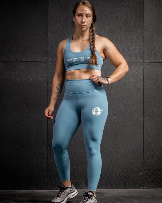 Plush Teal Sports Bra