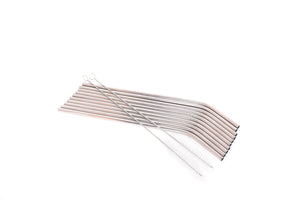 Stainless Steel Straws | Set of 10 Bent