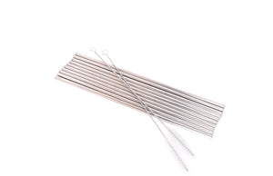 Stainless Steel Straws | Set of 10 Straight