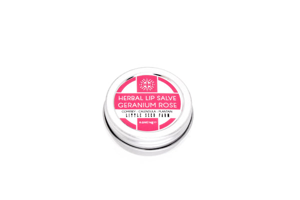 Herbal Lip Salve | Geranium Rose
