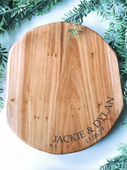 Cedar wood custom engraved board round