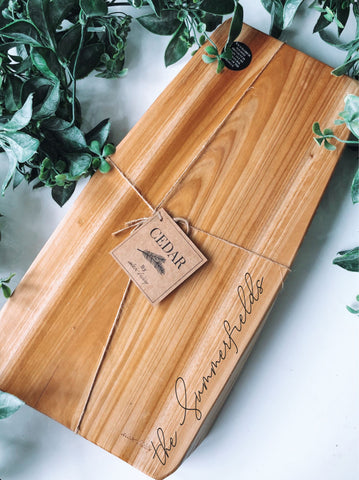 Cedar wood custom engraved board medium