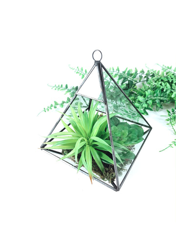 Geometric Terrarium Pyramid Black
