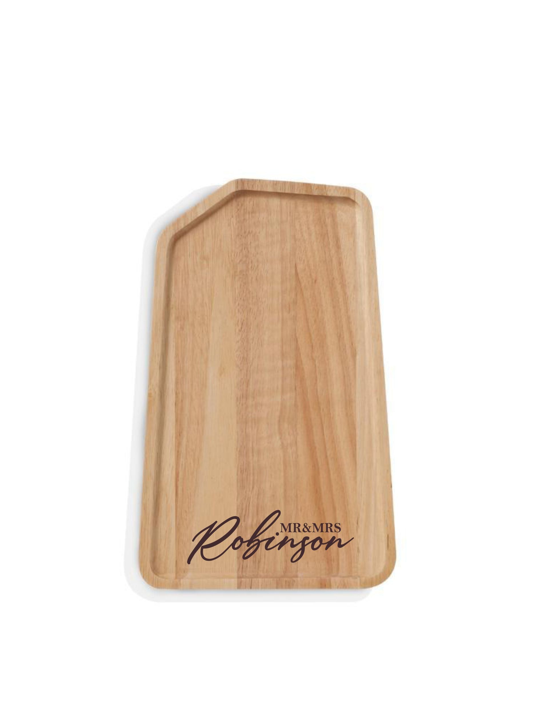 Custom engraved rectangular serving platter S/M/L