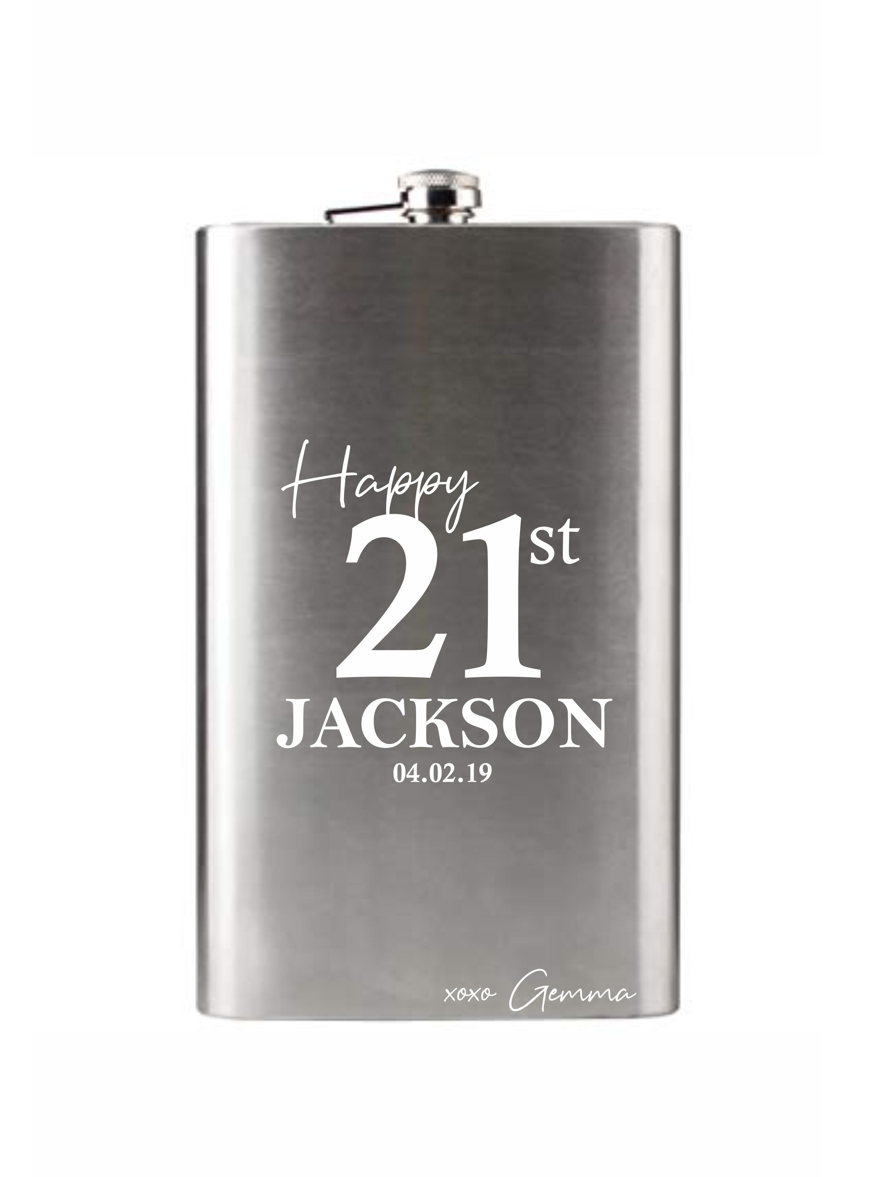 large custom flask