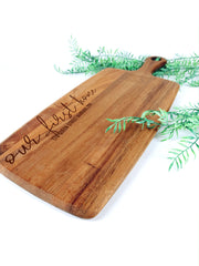 NEW sustainable wild wood custom serving paddle