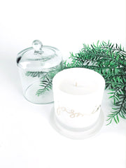 Custom bell candle white