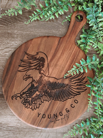 NEW sustainable wild wood custom serving board