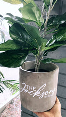 Custom cement pot