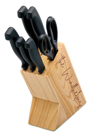 Custom engraved knife block