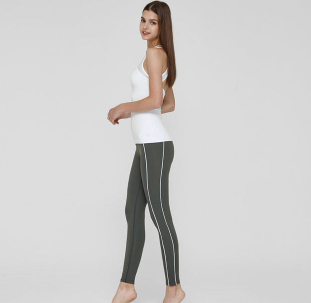 RL.18| Striped & Skinny Fit Leggings