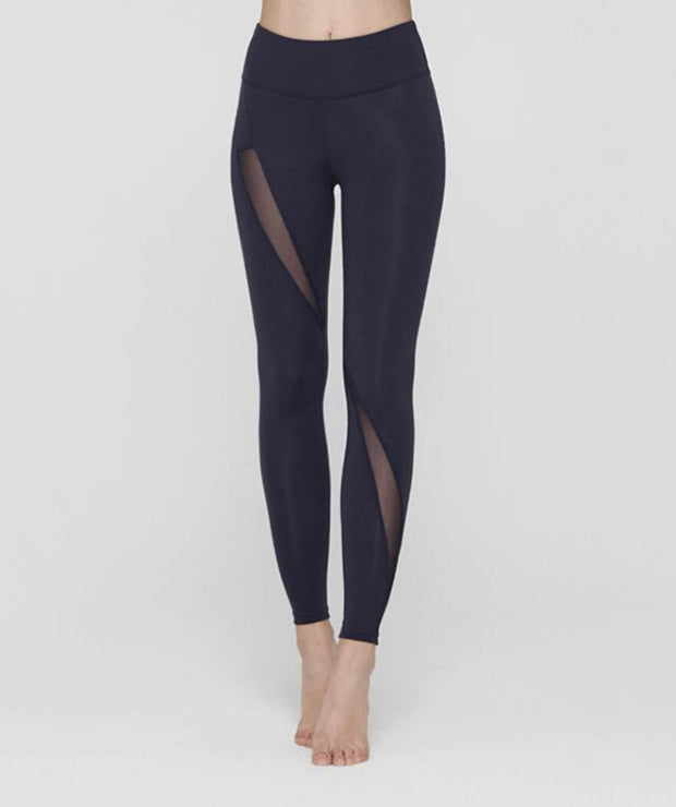 RL.14| Diagonal Mesh Pattern Leggings