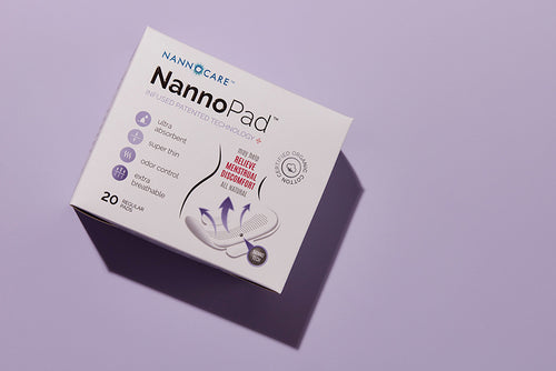 6 x Regular 10%OFF - Nannopad organic cotton sanitary pad day pad night pad pantyliner for women cramp relief pain relief pms period pain holistic natural relief relieve pain painkiller
