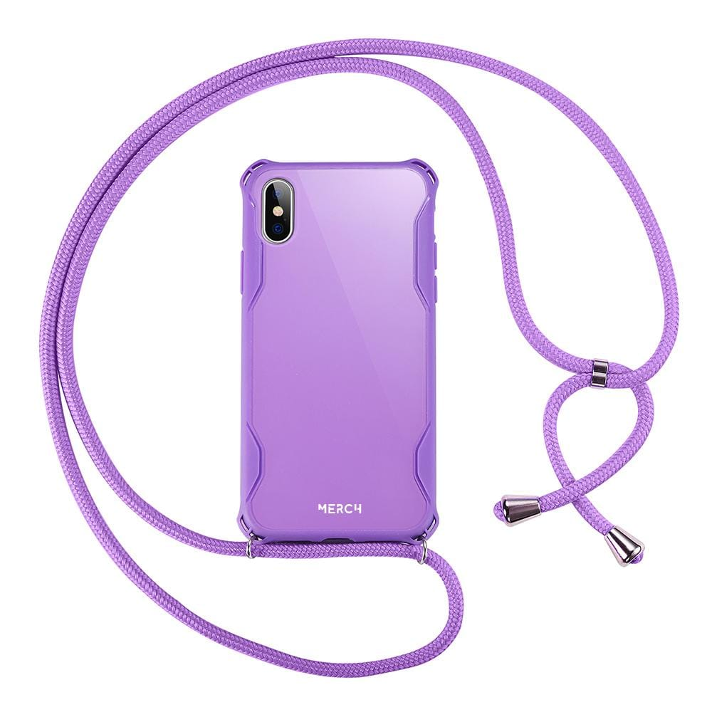 Necklace phone case - Purple
