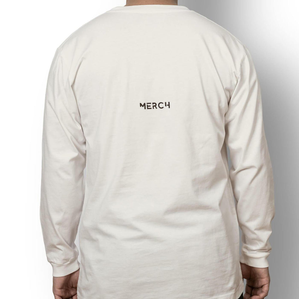Unisex long sleeve t-shirt off white