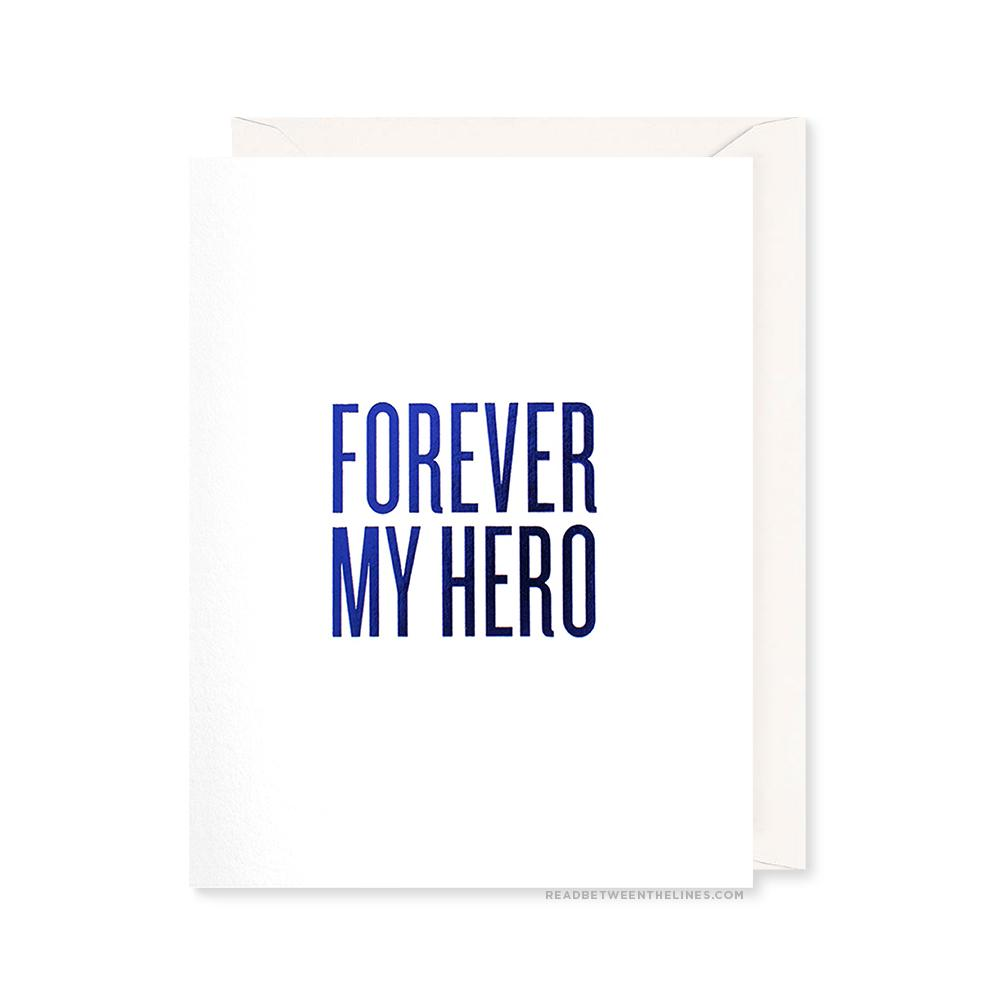 Forever My Hero Single Greeting Card
