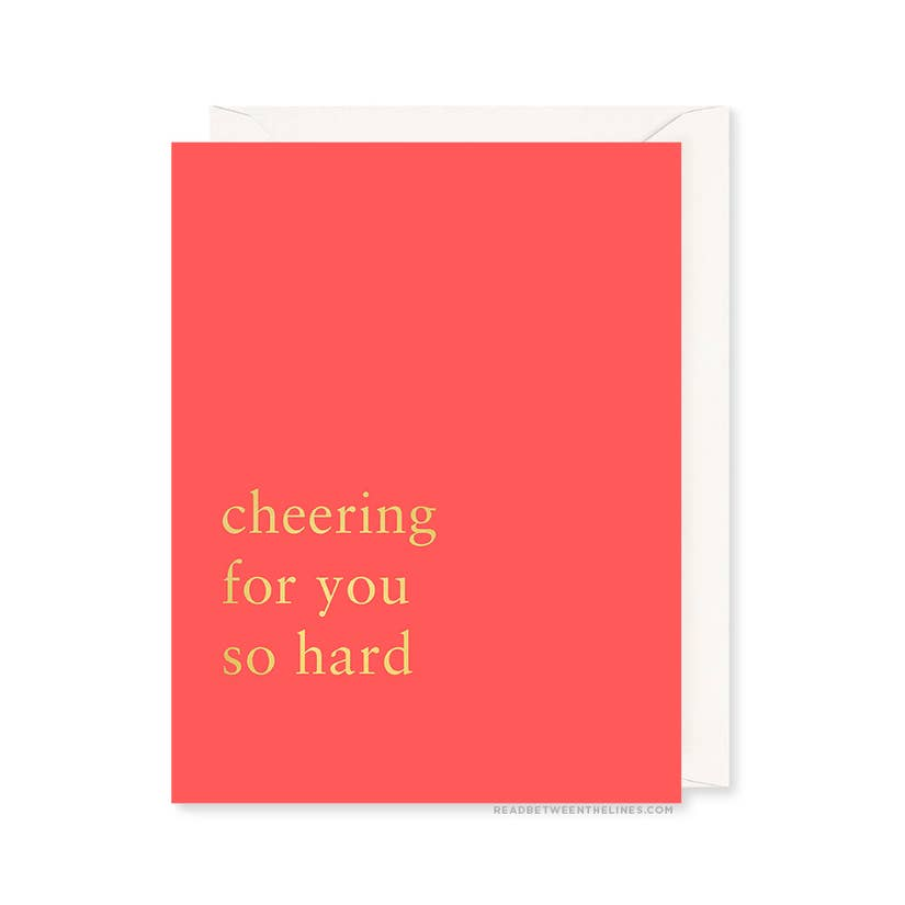 Cheering For You Single Greeting Card
